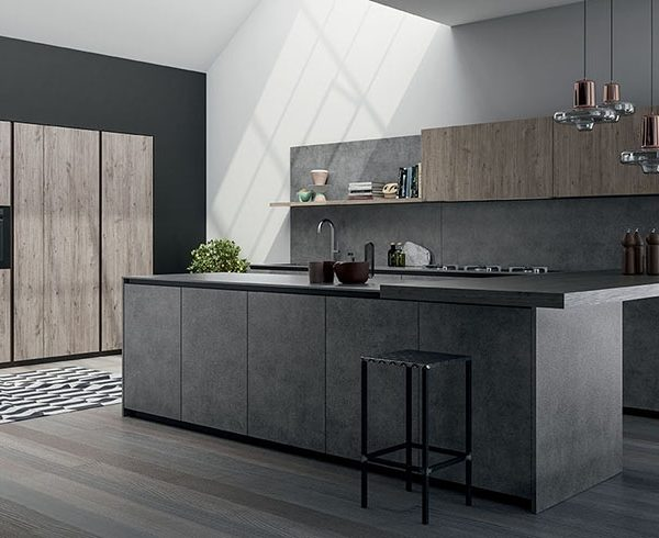 Cucina Moderna A Trieste.Cucina Moderna Con Basi Grandi Con Gola Flat Consegne In
