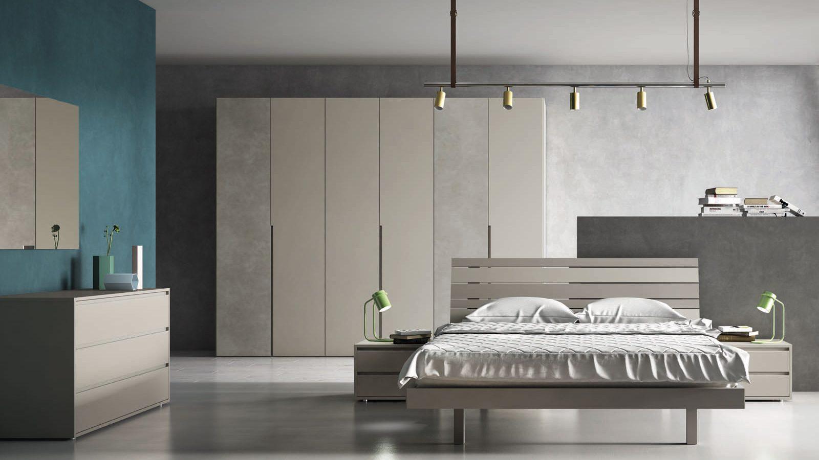 Camera da letto moderno con ante batttenti o scorrevoli for Armadio moderno camera da letto