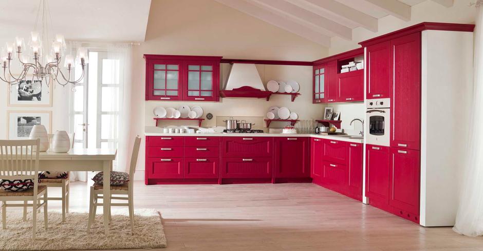 Cucina classica village con ante in legno laccato poro aperto ...