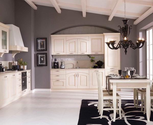 Cucina Classica contemporanea con ante in legno - Consegne ...