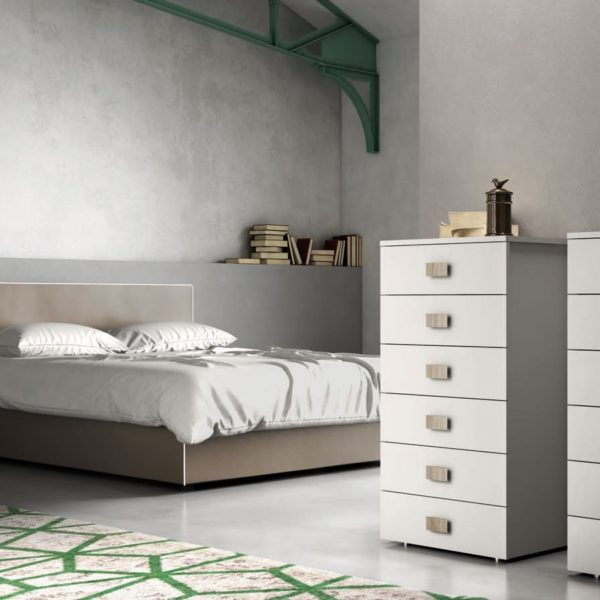 Camera da letto moderna minimal e letto imbottito con o senza ...