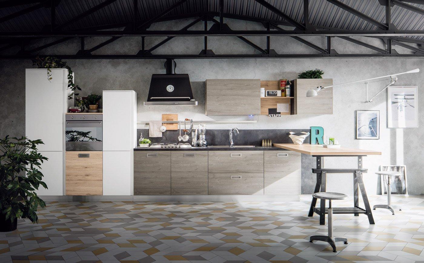 Placcaggio Cucina Moderna. Legno E Pietra A Vista Nella Casa ...