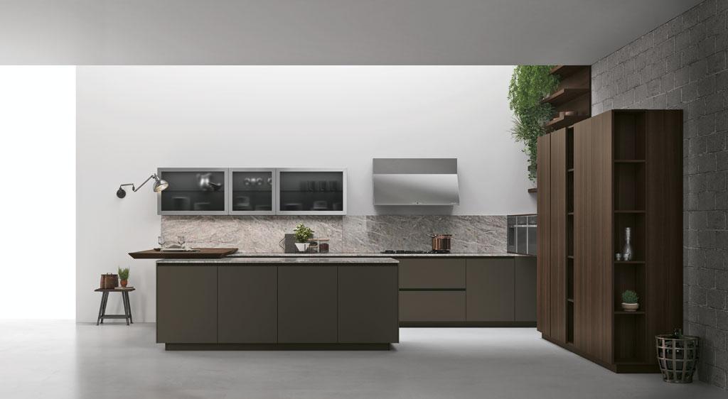 Cucina componibile moderna con gola consegne in friuli a udine pordenone trieste gorizia style - Cucine salone del mobile 2017 ...