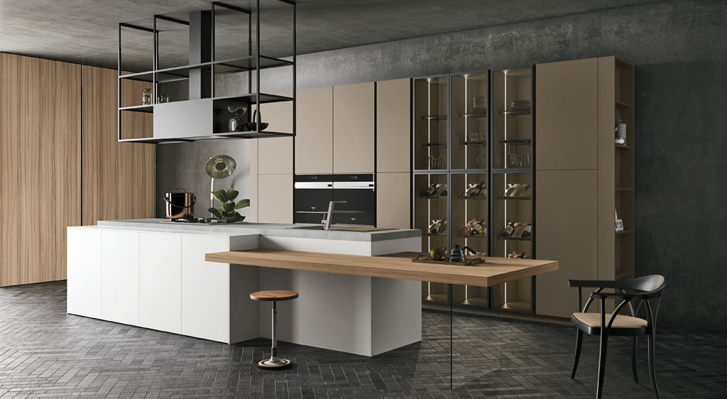 Cucina componibile moderna con gola consegne in friuli a - Cucina classica moderna ...
