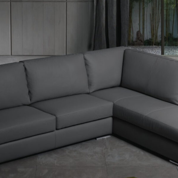 Divano In Ecopelle O Pelle.Divano Sofa Penisola Vera Pelle Ecopelle Tessuto Microfibra Due