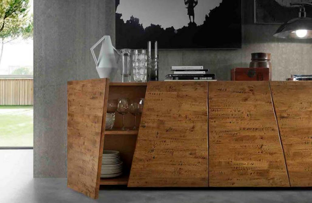 Credenza Con Letto A Scomparsa : Credenza buffet madia in legno massiccio con piedi a scomparsa