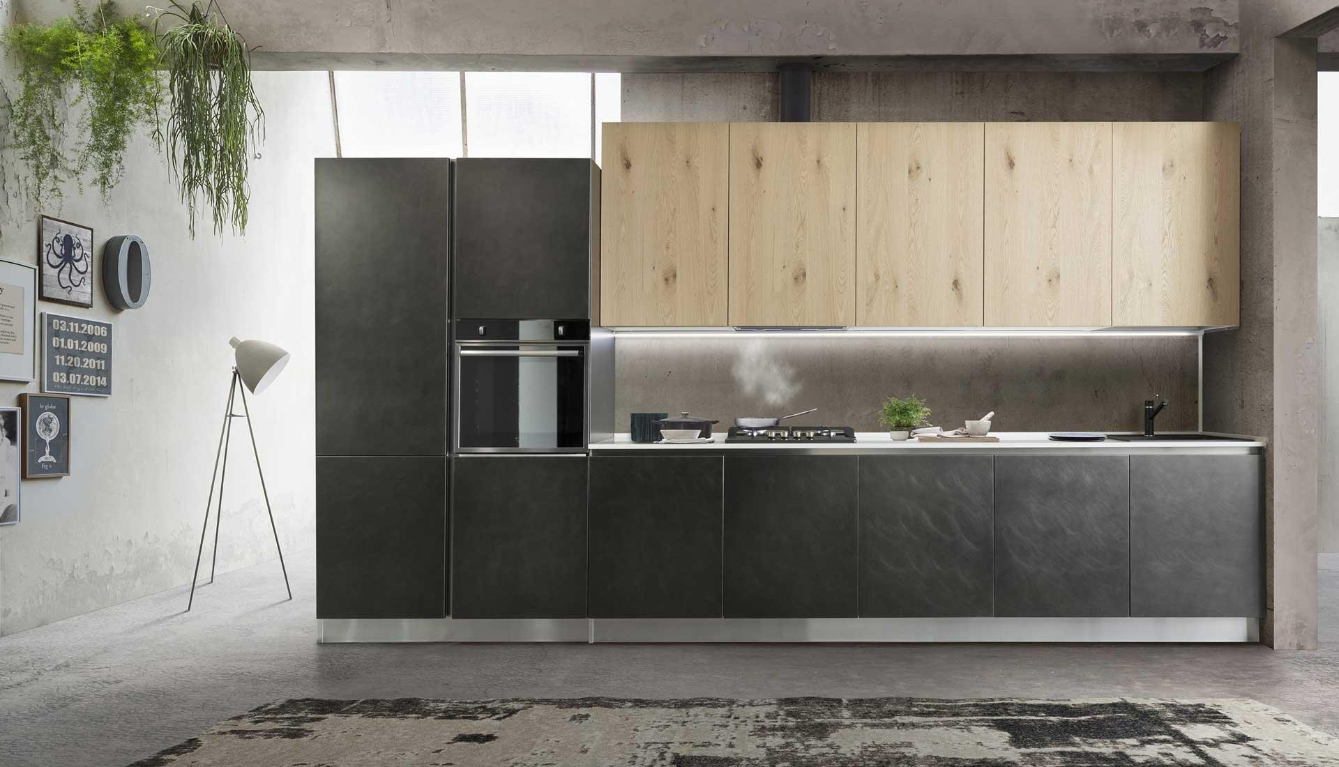Credenza La Dolce Vita : Cucine in legno affiancando la materialità del rovere dolce