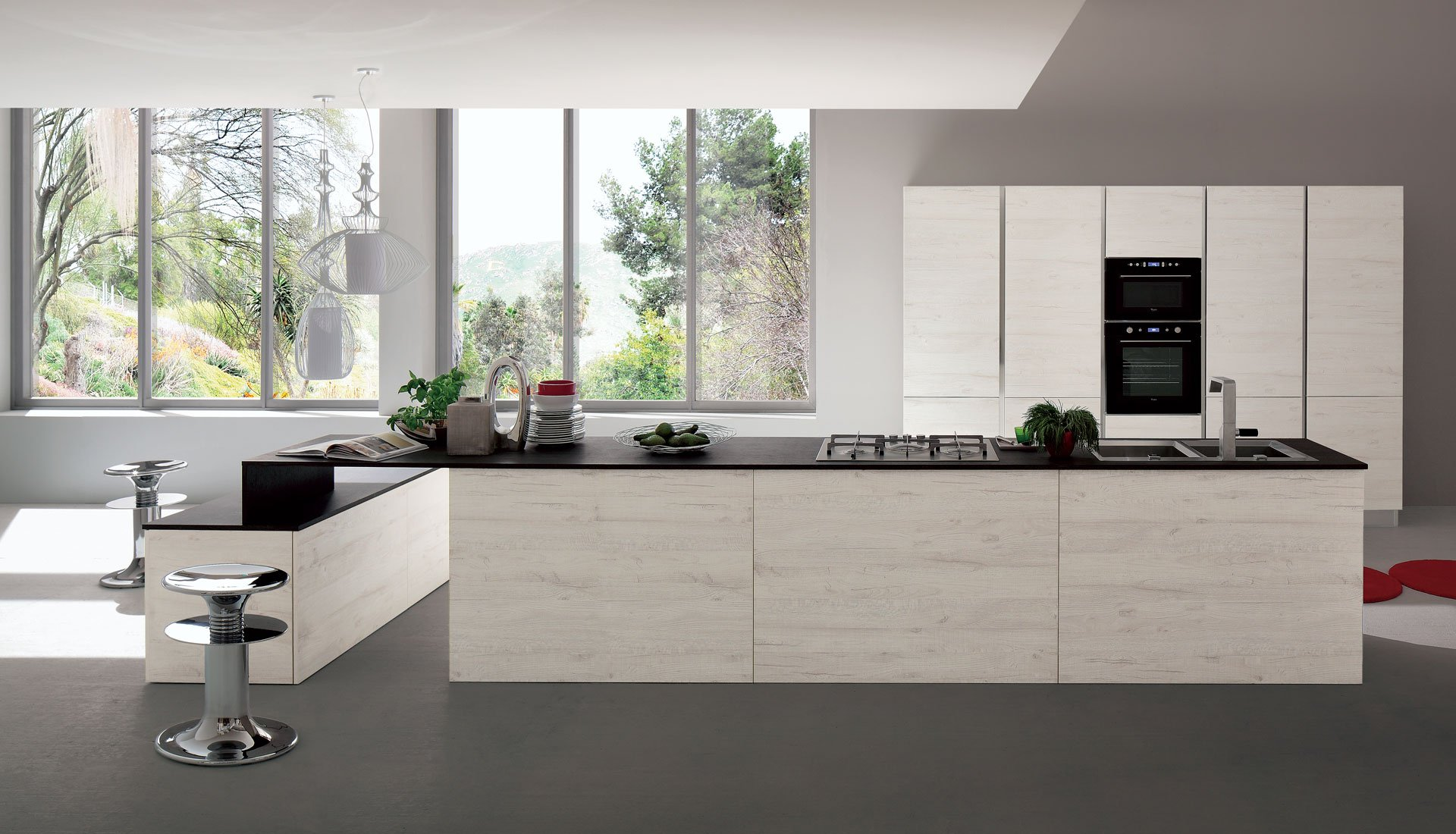 Cucina Rovere Sbiancato.Cucine Moderne In Rovere Sbiancato