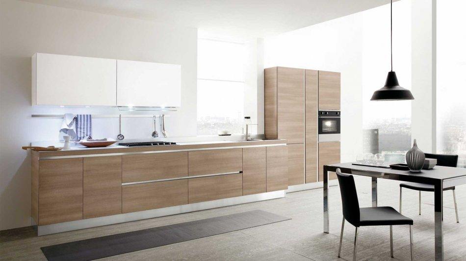 Cucina in legno nelle finiture rovere, frassino, noce e ...