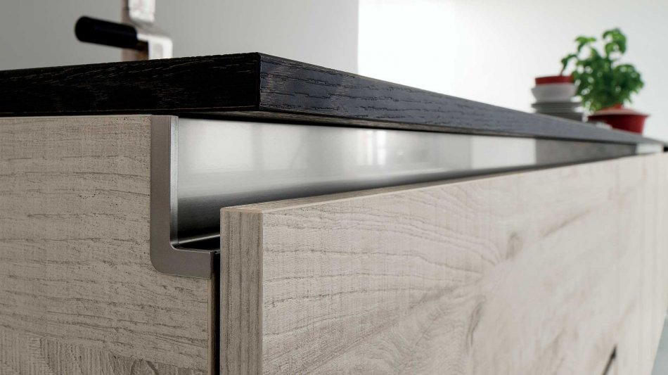 Cucina moderna in rovere tavolato scandinavo denver for Accessori per cucina moderna